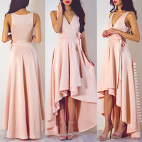 Back In Stock: Take A Bow Wrap Dress - Blush Pink