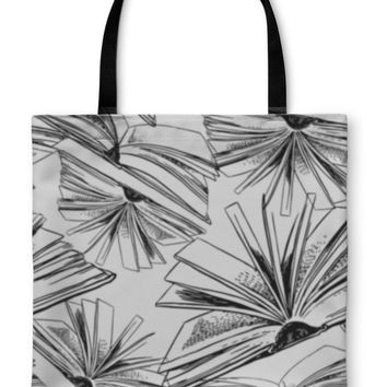 Tote Bag, Books Pattern