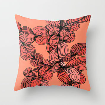 Retro Orange Throw Pillow by DuckyB (Brandi)