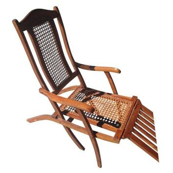 Pre-owned Antique Early 1900s Ocean Liner Deck Chair