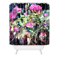 Ginette Fine Art Purple Thistles Shower Curtain