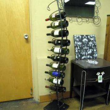 Wine Spine Wine Rack by deliafurniture on Etsy