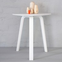 Bella Side Table White 45x49cm