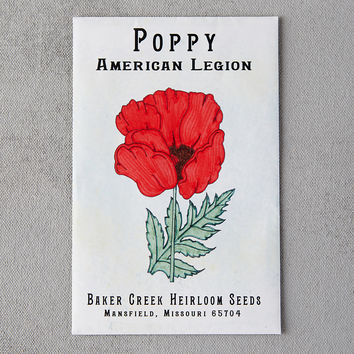 American Legion Poppy Seeds