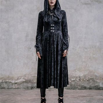ICIKHY9 Elegant Victorian Halloween Costumes for Women Noble Ladies Extravagant Dresses Black Color Above Ankle Long with Cloak XS-3XL