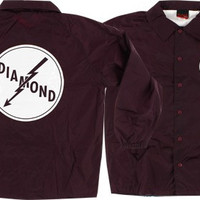 Diamond Lightning Coaches Jacket Medium Burgundy
