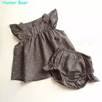 Humor Bear Fashion Summer Style  DOT Baby Girl Clothes COTTON Clothing Set Baby Clothing