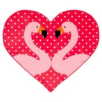 Flamingo Heart Beach Towel