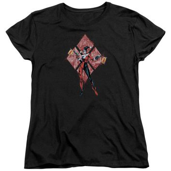Batman - Harley Quinn (Diamonds) Short Sleeve Women's Tee