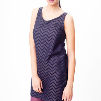 Free shipping Gray zigzag dress