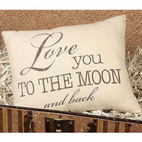 Moon and Back Pillow