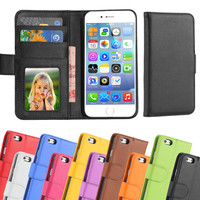 6S/6+ Classic  Flip Leather Case For Apple iphone 6 6S 4.7 Wallet Card Holder Mobile Phone Cover For iphone 6 6S Plus 5.5''