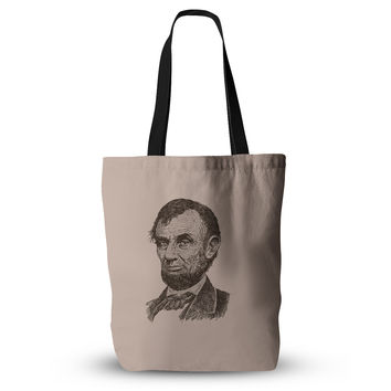 "BarmalisiRTB ""Abraham Lincoln"" Brown Vintage Everything Tote Bag"