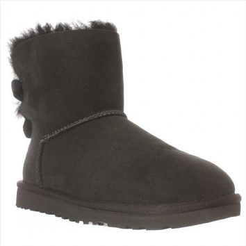 UGG Australia Bailey Bow Mid-Calf Boots, Black, 9 US / 40 EU