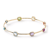 Ippolita 18K Rock Candy 8-Stone Bangle in Summer Rainbow
