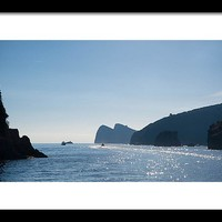 Amalfi Coast By Boat Framed Print
