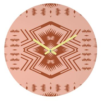 Holli Zollinger COLORADO BLUSH Round Clock