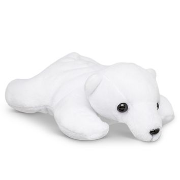 "Single Polar Bear Mini 4"" Small Stuffed Animal, Zoo Animal Toy, Arctic Party Favor for Kids"