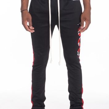 Snake Patch Track Pants in Black