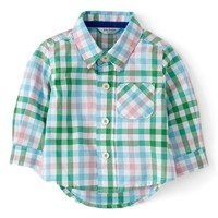 Mini Boden 'Laundered' Woven Shirt (Baby B