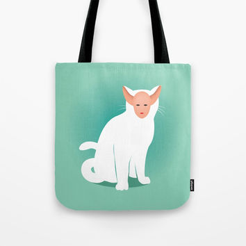 Kitty Tote Bag by trash-id