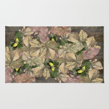 Acorns in Autumn Rug by anipani