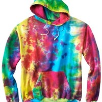 Tie-Dye 8.5 oz., 100% Cotton d Pullover Hood>S MULTI RAINBOW CD877