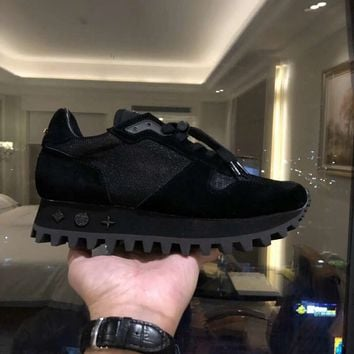 Louis Vuitton LV Women Men Fashion Casual Sports Shoes Black