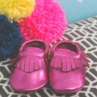 Treasure of the Tribe Moccasin - Metallic Pink