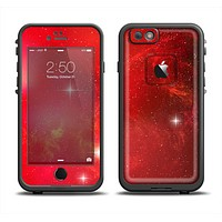 The Glowing Red Space Skin Set for the Apple iPhone 6 LifeProof Fre Case