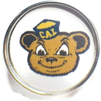 Univ of California Berkeley Golden Bears College Logo Fashion Snap Jewelry University Snap Charm