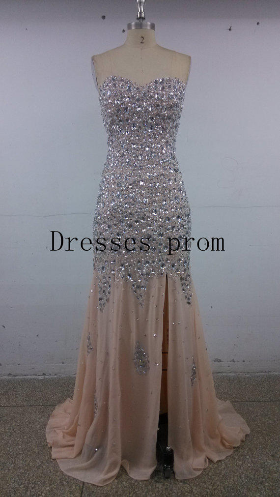 2014 latest long chiffon prom dresses from Dressesprom on Etsy