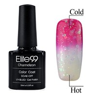 Chameleon Temperature Changing Colour Nail Lacquers Soak Off UV LED Gel Polish Medium Violetred - Clear Pink