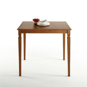 Square 39 x 39 inch Counter Height Brown Wood Dining Table