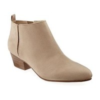 Sueded Heeled Bootie for Women