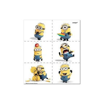 Unique Despicable Me Tattoo Sheets, 4Pk