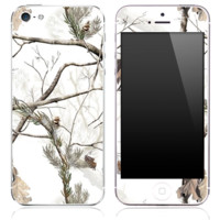Real Winter Camouflage V7 Skin for the iPhone 3gs, 4/4s, 5, 5s or 5c