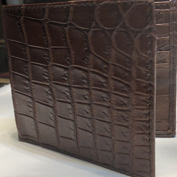 Men's Crocodile Bi-Fold Wallet