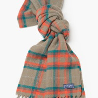 Maclaster Plaid Scarf Taupe