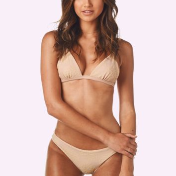 Artemis Top x Chiara Bottom Bikini Separates (Eres Embroidered Latte)