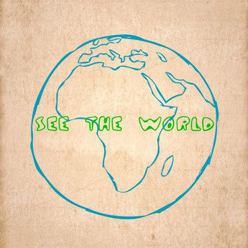 See the World  Typography Print by MursBlanc on Etsy