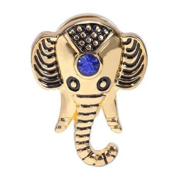 ac PEAPO2Q 1Pc Women Stainless Steel Gold Silver Elephant Ear Expander Plugs Piercing Earrings Nose Body Jewelry