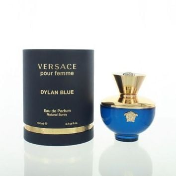 Versace Pour Femme Dylan Blue By Versace 3.4 Oz Eau De Parfum Spray For Women