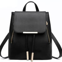 Vintage Black Tassel Travel Bag Backpack