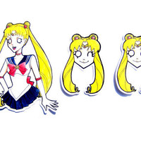 Sticker Set - Sailor Moon
