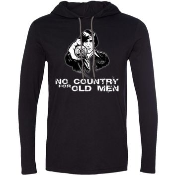 No-COUNTRY-for-old-men-PIC 987 Anvil LS T-Shirt Hoodie