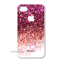 Iphone 4 4s 5, 5S, 5C case cover apple image.PICTURE of a sparkly pink glitter