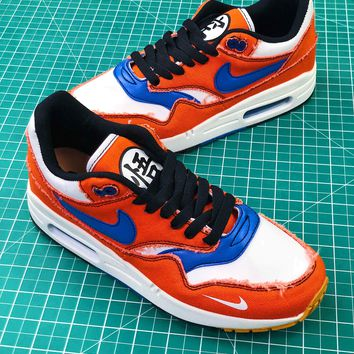 97f061200 Dragon Ball Z Nike Air Max 1 908366-700 Sport Running Shoes - Sale