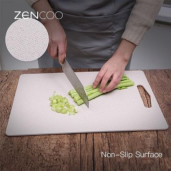 ZENCOO Non-Slip Cutting Board Vegetable Fruit Meat Chopping Board Super Slim Food Slice Cut Chopping Block Kitchen Tools