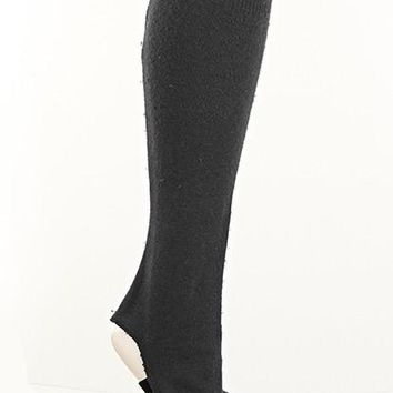 Black Fitted Leg Warmers